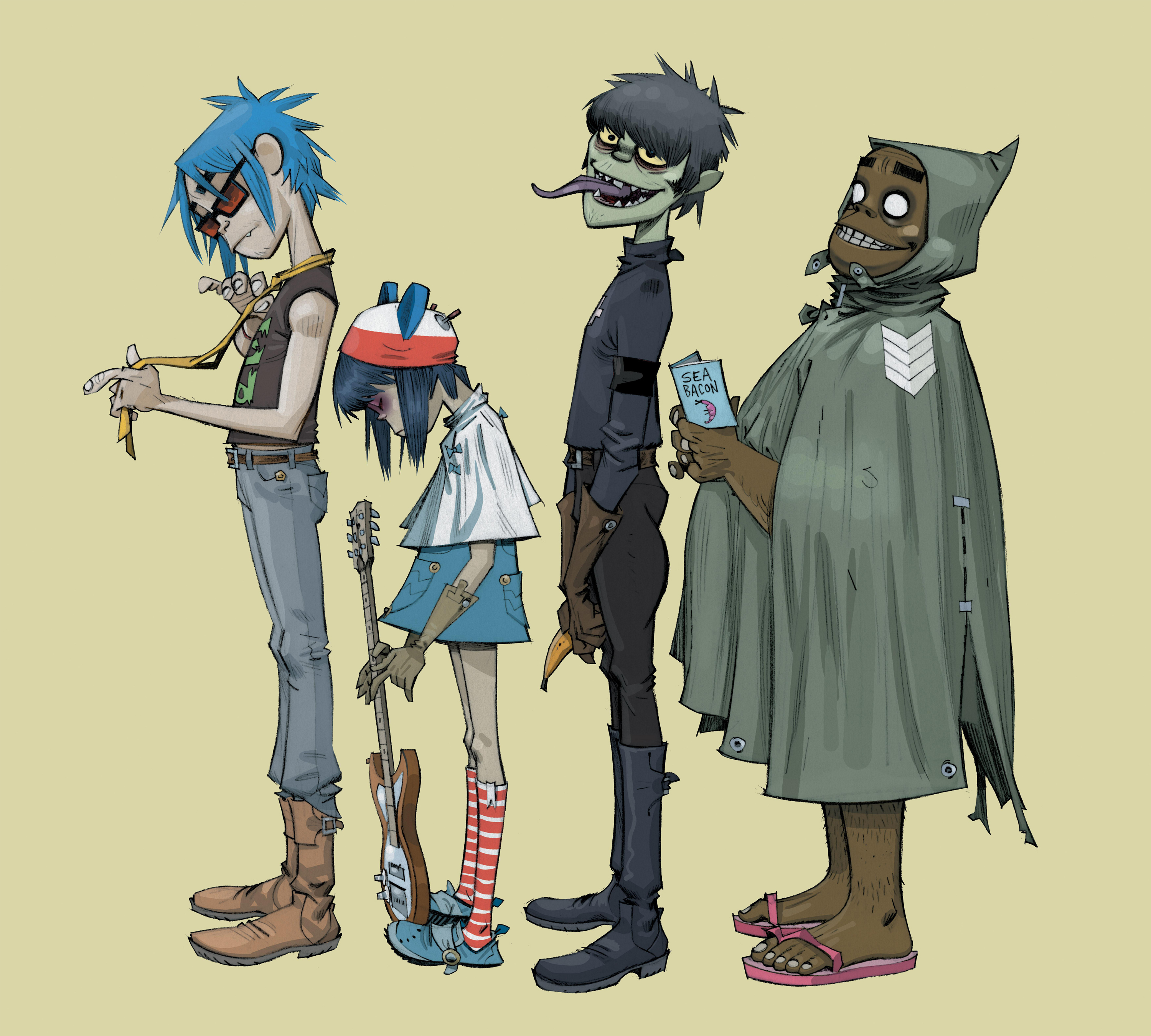 Gorillaz, Phase Three, press image 01