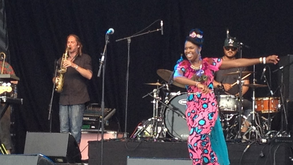 Ibibio Sound Machine, Walthamstow Garden Party, 20140727, Aaron Lee (1448x815)