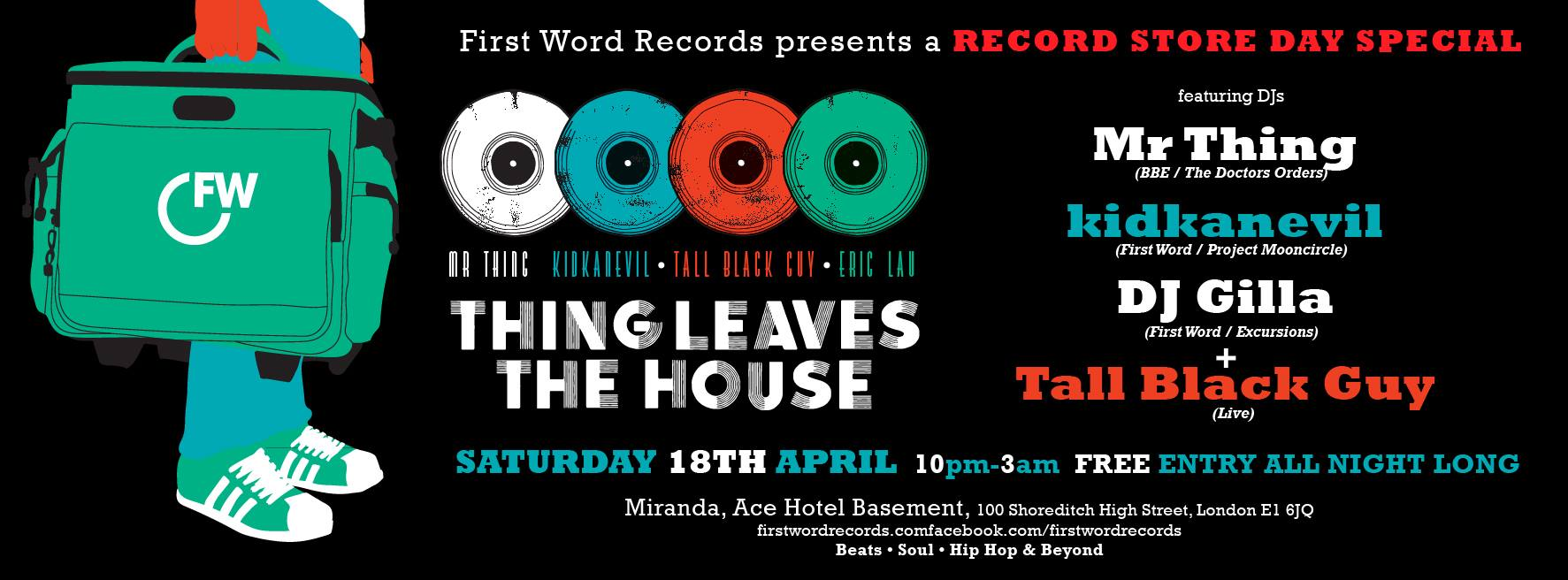 Things Leave the House, RSD 2015 special promo, First Word (1773x656)