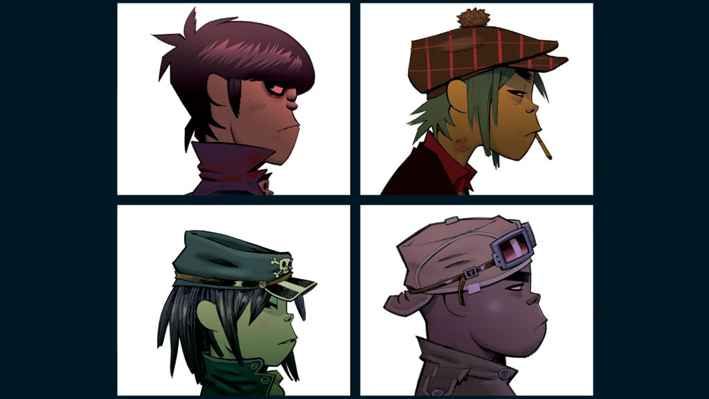 Gorillaz - Demon Days artwork, wallpaper edit (1024x576)