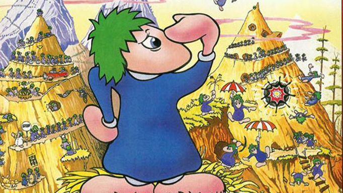 Lemmings (1991), Psygnosis cover (682x384)