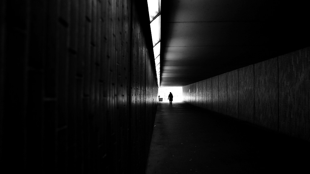 Lone figure in underpass, Apr 22, 2013, by Tramsformer18 (1000x563)